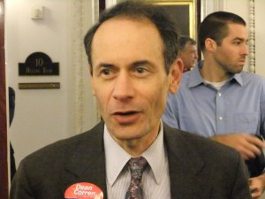 Dean Corren at the Democratic State Committee meeting in September.
