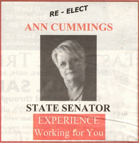 Ann Cummings print ad