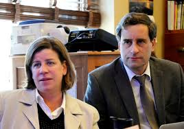 State Reps. Heidi Scheuermann and Paul Ralston. Photo filched w/o permission from VTDigger. I hope they don't mind.