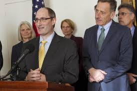 Justin Johnson, Gov. Shumlin, and -- barely visible in back - -Hal Cohen.