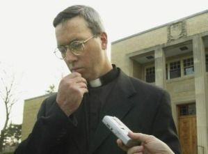 The Archdiocesan spokesman in 2002, carefully choosing his words.